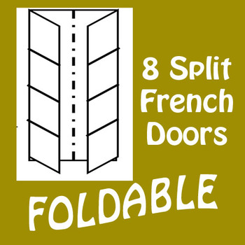 French Door 8 Panel Foldable Graphic Organizer - Vertical Layout