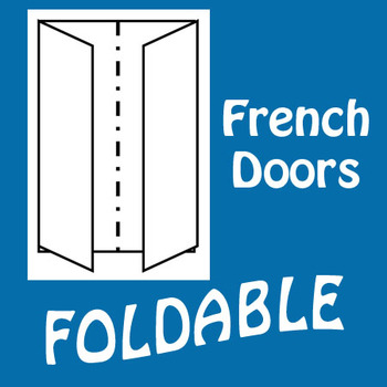 French Door Foldable Graphic Organizer - Vertical Layout