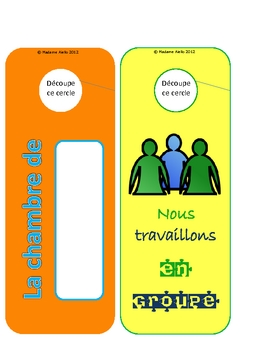 French Door Hangers - student gift and classroom decor