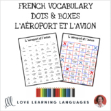 French Dots and Boxes Game - L'AÉROPORT - No prep printable
