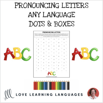 photo regarding Dots and Boxes Game Printable referred to as French Dots and Containers Video game - LALPHABET - No prep printable
