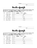 French Double Adjectives Worksheet  - Before (B.A.G.S.) &