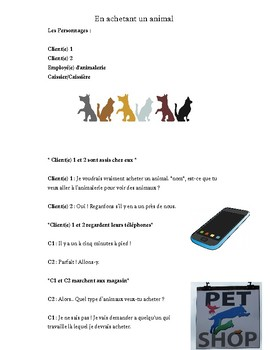 French Drama Script - Buying an animal from the pet store