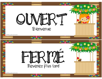 French Dramatic Play Surf Shop