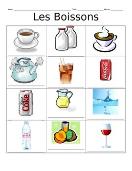 French Drink Vocabulary Notes