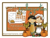 French Dual Language Kindergarten Thanksgiving Mini-Pack
