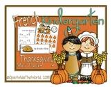 French Dual Language Kindergarten Thanksgiving Mini-Pack