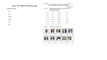 French -ER Conjugation Quizzes and Tests
