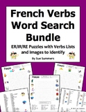 French ER, IR, and RE Verbs Word Search and Verb List Bundle