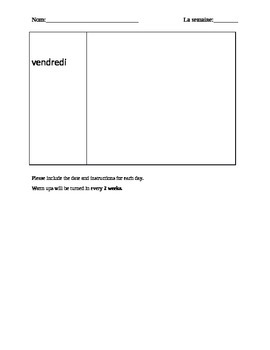 French warm up template
