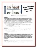 French ER Verb Partner Activities (Speak, Read, Listen, Write)