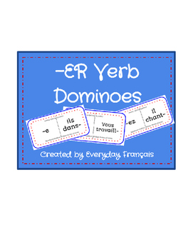 French -ER Verb Present Tense Dominoes