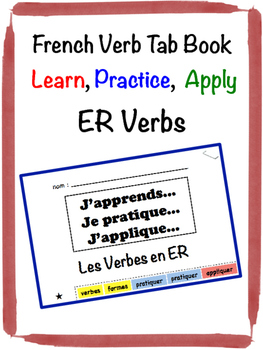 French ER Verb Tab Book