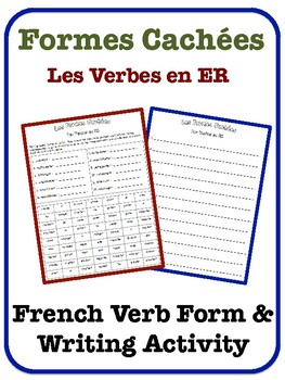 French ER Verb Writing Activity