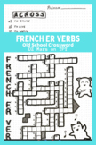 French ER Verbs Crossword - Compatible with Discovering Fr