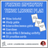 Comprehensive French Imperfect Tense Lesson Plan - Distanc