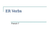 French ER Verbs Part 1