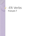 French ER Verbs Part 2