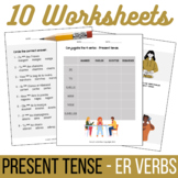 French ER Verbs Worksheets - Present Tense