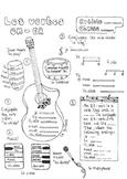 French ER-verb conjugation worksheet musically themed