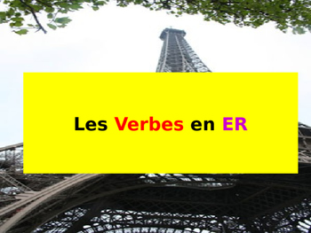 French ER verbs Intro