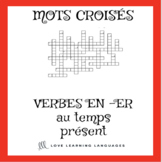 French -ER verbs crossword puzzle - regular -ER verbs - pr
