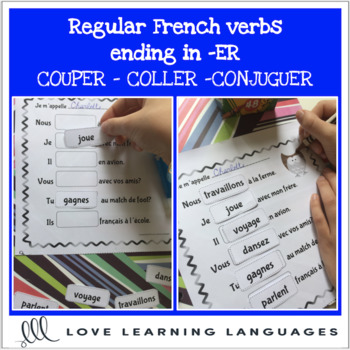 French Er Verbs Present Tense Cut And Paste Worksheets Tpt
