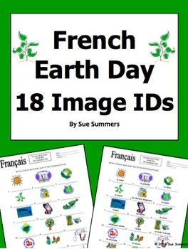 French Earth Day 18 Vocabulary Image IDs - Jour de la Terre