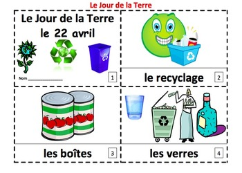 French Earth Day 2 Emergent Reader Booklets