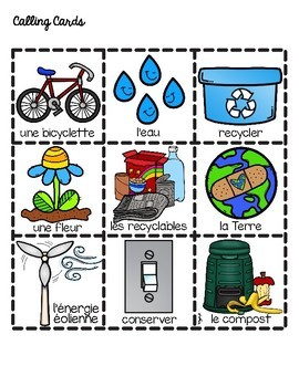 French Earth Day Bingo
