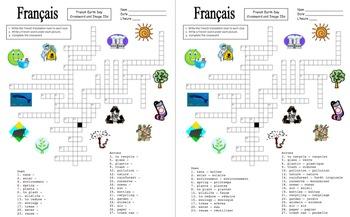 French Earth Day Bundle- Jour de la Terre- Worksheets, Vocabulary, Presentation