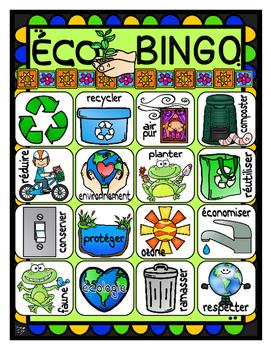 French Earth Day ÉCO-BINGO