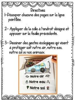 French Earth Day Interactive Notebook / Jour de la Terre - Livret interactif