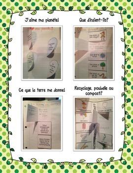 French Earth Day Interactive Notebook - Le jour de la terre (Cahier interactif)