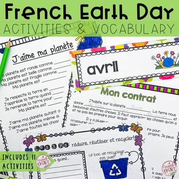 French Earth Day Package/Spring: Le jour de la terre, envi