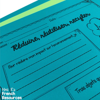 French Earth Day writing activities / le futur simple et le subjonctif