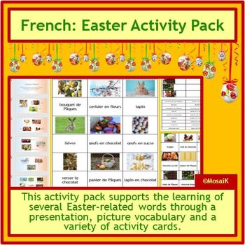 French Pâques Easter Activities