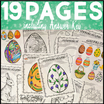 French Easter Activities Color by Number Paques Coloring Pages