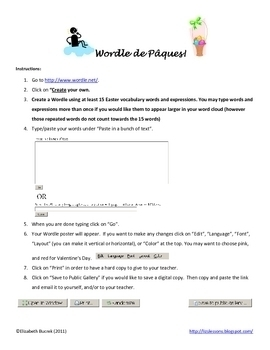 French Easter Activities! Vocabulaire et Activites pour Paques!