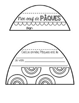 French Easter Activity - Pâques (Flip Book Craftivity/ARTivité)