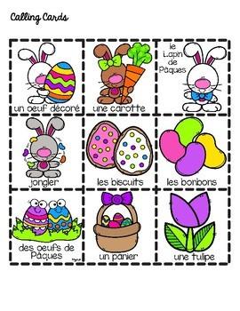 French Easter Bingo