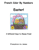 French Easter Color By Numbers