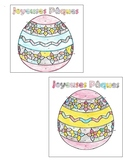 French Easter Color by Number Page (2 forms!)