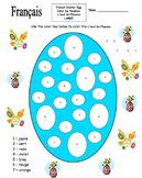 French Easter Egg Color by Number - L'œuf de Pâques