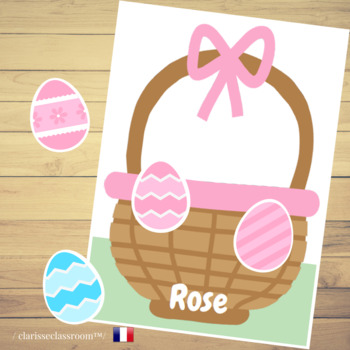 French Easter Egg Hunt⎜Color and Number Match Game⎜Color recognition