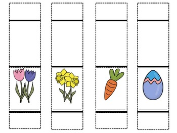 French Easter Foldables: Paper Puppet Story