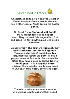 French Easter Food - Reading