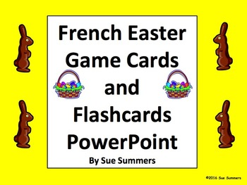 French Easter Game Cards and Flashcards PowerPoint
