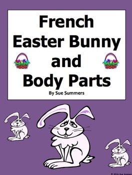 French Easter Label the Easter Bunny Body Parts