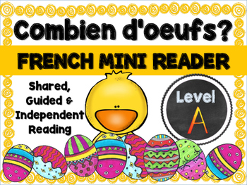 French Easter Mini Reader, Vocabulary Cards & Reading Assessment